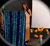 Kristy reading her poem